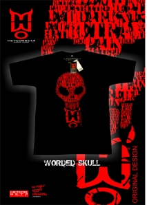 worded skull