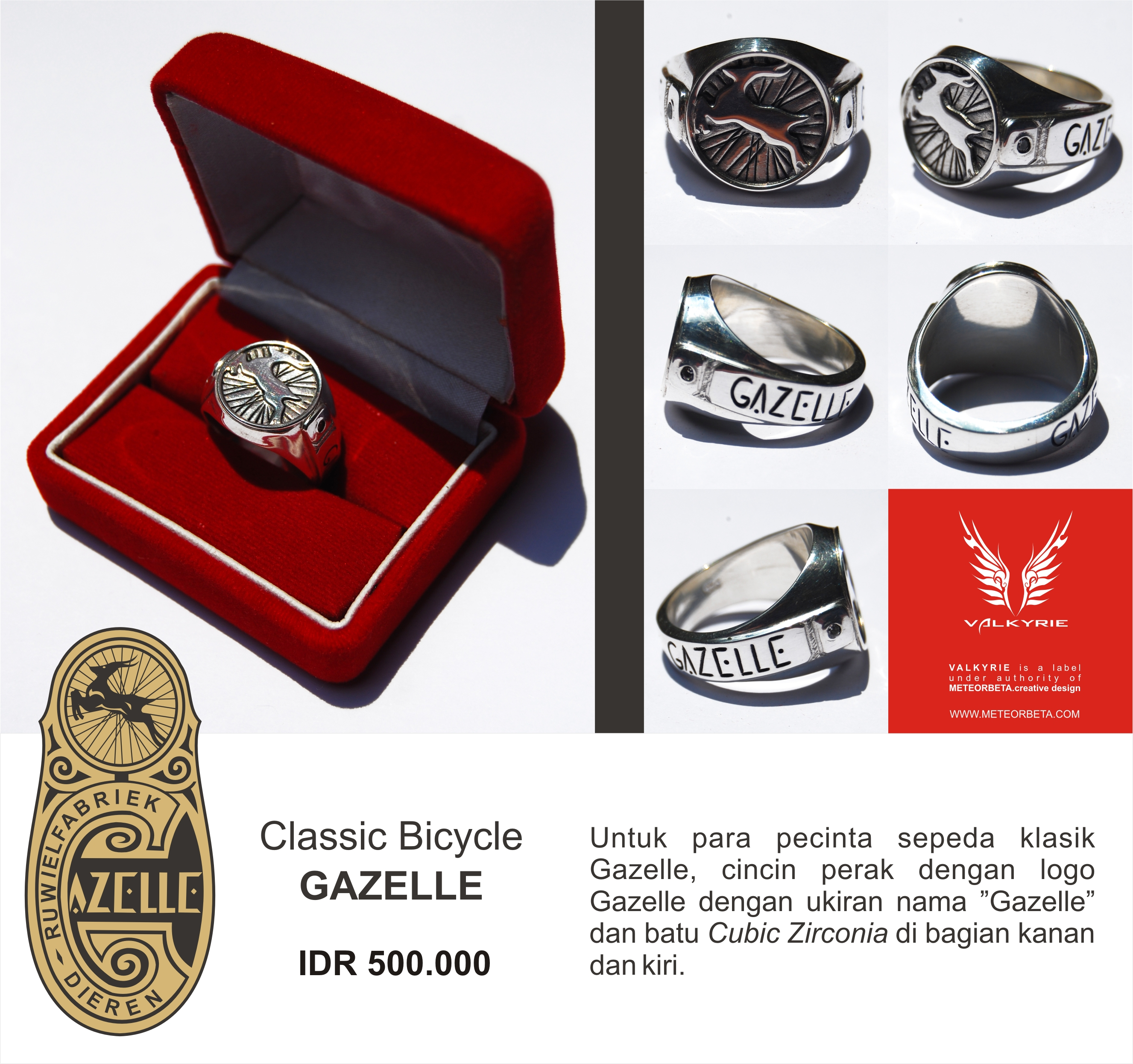 classic bicycle � silver ring of gazelle and fongers