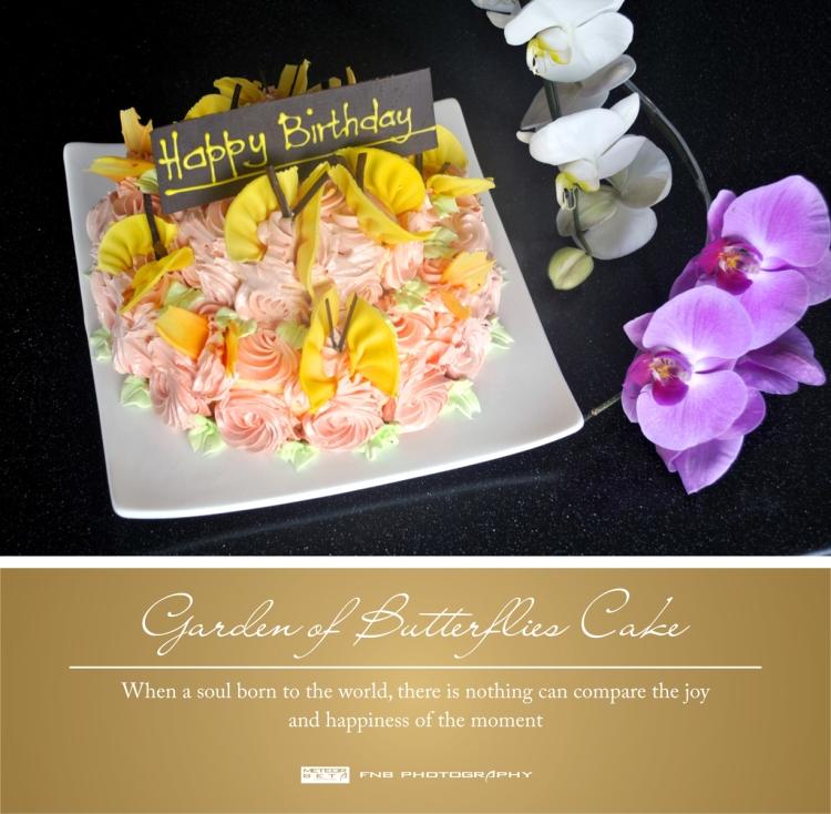garden of butterflies cake