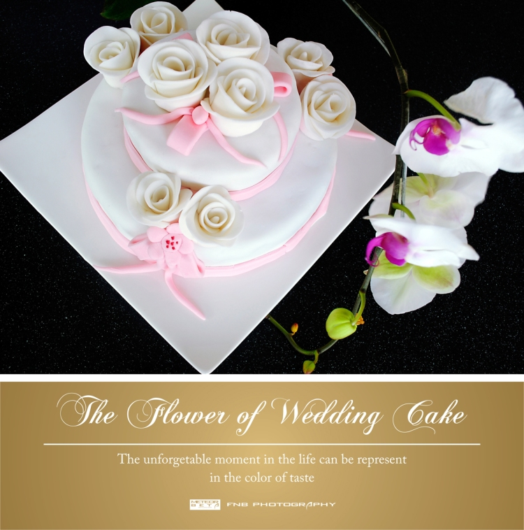 the flower of wedding cake